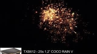 "Fajerwerki TXB612 V Coco Rain 25s 1 2"" Triplex"