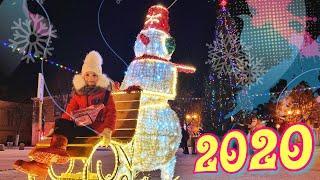 Отмечаем Новый год 2020 улица Соборная Гатчина Санкт-Петербург