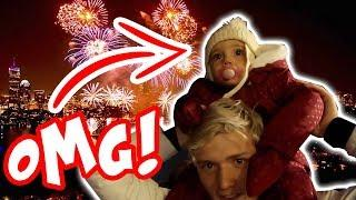 OUR TODDLERS HILARIOUS REACTION TO SEEING FIREWORKS FOR THE FIRST TIME!!