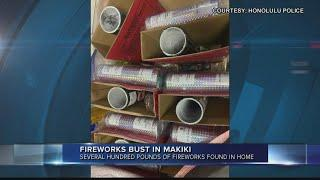 400 pounds of illegal fireworks seized from Makiki home, two arrested