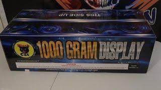1000 GRAM DISPLAY - BLACK CAT FIREWORKS