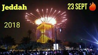 Insane fireworks at jeddah corniche 2018
