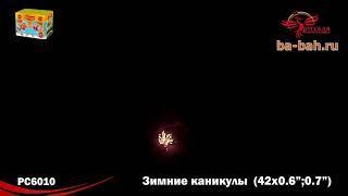 """Фейерверк РС6010 Зимние каникулы (0,6"""", 0,7"""" х 42)"""