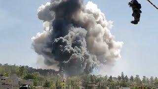 Huge Explosion At Fireworks Factory