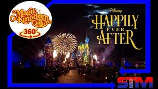 Happily Ever After Fireworks - 360° 4K Virtual POV - Magic Kingdom