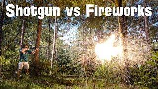 Firework Skeet Shooting - Shooting Skeet with Fireworks Instead of Clays