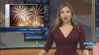 Illegal fireworks on Maui
