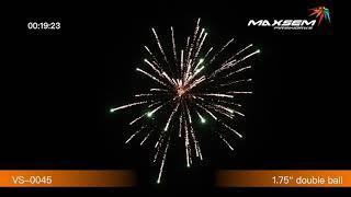 """Фестивальные шары VS-0045 - DOUBLE BURST - упак 6 сдвоенных заряд 1,75""""  45 мм.клб +мортира -выс 55м"""