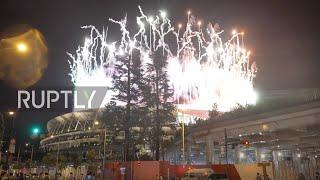 Japan: Fireworks light up skies above Tokyo stadium as Olympics come to a close