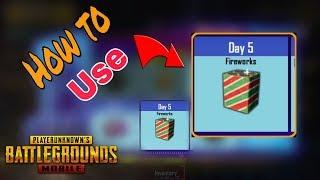 How to use fireworks in Pubg Mobile | Pubg Mobile Anniversary