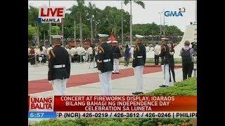 UB: Concert at fireworks display, idaraos bilang bahagi ng Independence Day celebration sa Luneta