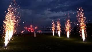 Наземный фейерверк на русско итальянской свадьбе