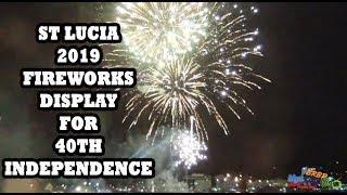 ST LUCIA 2019 INDEPENDENCE FIREWORKS FROM FERRY - BrBpTV