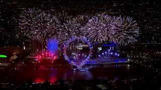 London New year Fireworks 2019 LIVE