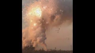 Incendio En Fabrica De Fuegos Artificiales