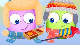 Op & Bob How to behave in the fireworks | Animated Cartoons Characters | Animated Short Films