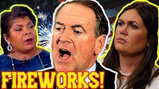 Fireworks : Mike Huckabee Calls For April Ryan to be Revoked After Shameless Attack On Sarah Sanders