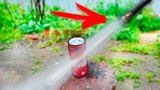 ЭКСПЕРИМЕНТ: возможно ли разрезать водой кока колу ?!