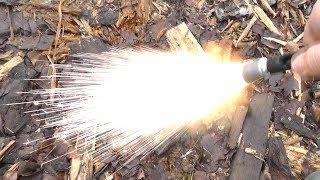 Ракетница сигнал охотника в качестве хлопушки капсюлями. Как рикошетит ракета