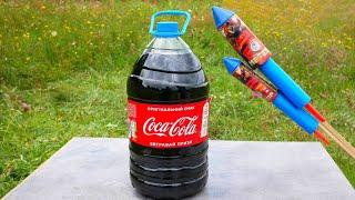 Experiment: XXL Rocket Fireworks vs Coca-Cola