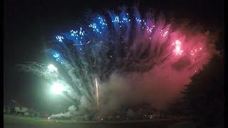 Best Backyard Pyromusical Fireworks - July 4th 2018 - Cypress TX - Drone View