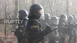 Germany: Activists launch fireworks as police try to clear protest against A49 highway construction