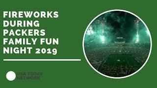 Watch the fireworks over Lambeau Field during Packers Family Night 2019