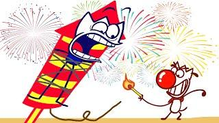 Light up the Fireworks | Animated Cartoons Characters | Animated Short Films
