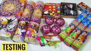 Diffrent types of fireworks testing 2021 Diwali Patake Testing New Cracker stash Testing Diwali vlog