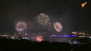 Fireworks Light up Moscow Skies for City Day Celebrations
