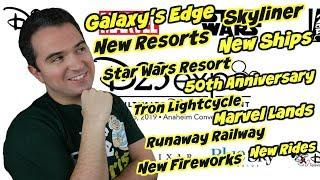 2019 D23 Predictions | Star Wars Galaxy's Edge, Skyliner, New Resorts, Fireworks and More!