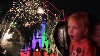 Toddler's Reaction to Disney Fireworks | SO CUTE