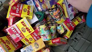 FIREWORKS JACKPOT!!! Dollar General Dumpster Dive - Night 463