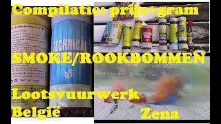ROOK/SMOKE-BOMBS: België. 2021 LOOTS-Vuurwerk/Fireworks In de sneeuw.