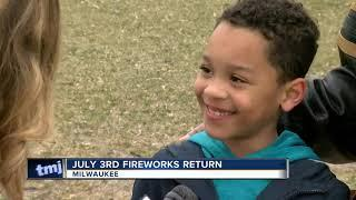 July 3rd fireworks return to Milwaukee's lakefront