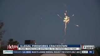 Illegal fireworks crackdown