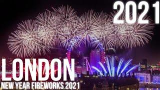 London -  Best of New Year Fireworks - 2020/2021 - LIVE