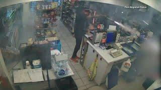 1 of 2 suspects arrested in fireworks assault of gas station employee