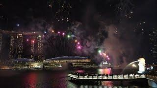 Live! Singapore National Day Parade Fireworks from Marina Bay Sands