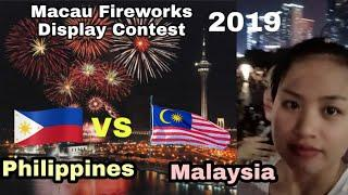 Philippines vs Malaysia Fireworks Display Competition 2019 in Macau