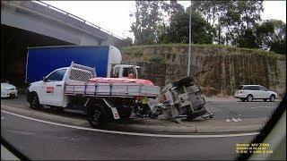 BAD DRIVING AUSTRALIA # 107 LOST Control ,  Too Tall , Trailer Down , Fireworks