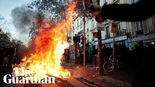 Protesters launch fireworks at police in Paris