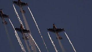 Aerobatics Amid Fireworks Wow Audience in North China