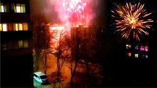 Мощные фейерверки в Новый Год 2021. Запорожье. КОСМОС. Гремят Салюты в полночь. Салюты 2021 Украина