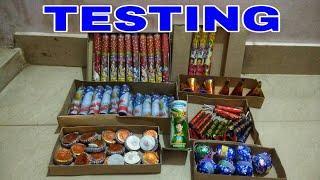 Testing Diwali Crackers || Diwali Stash 2019 || Fireworks Testing ||
