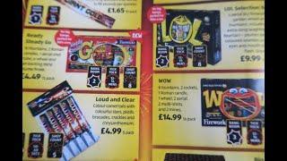 Aldi Fireworks leaflet 2019