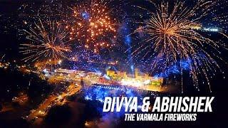 Fantastic fireworks captured by the drone at the Varmala before the Wedding Ceremony