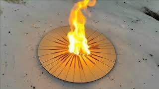 Какой след останется на доске, если поджечь на ней три пачки бенгальских огней.