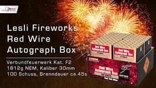 Red Wire Autograph Box von Lesli Fireworks