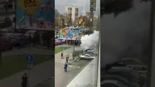 """Взрыв 1 ноября в Минске: траектория полета """"петарды"""""""